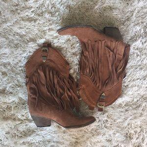 Shoes - Fringe Cowboy Boots